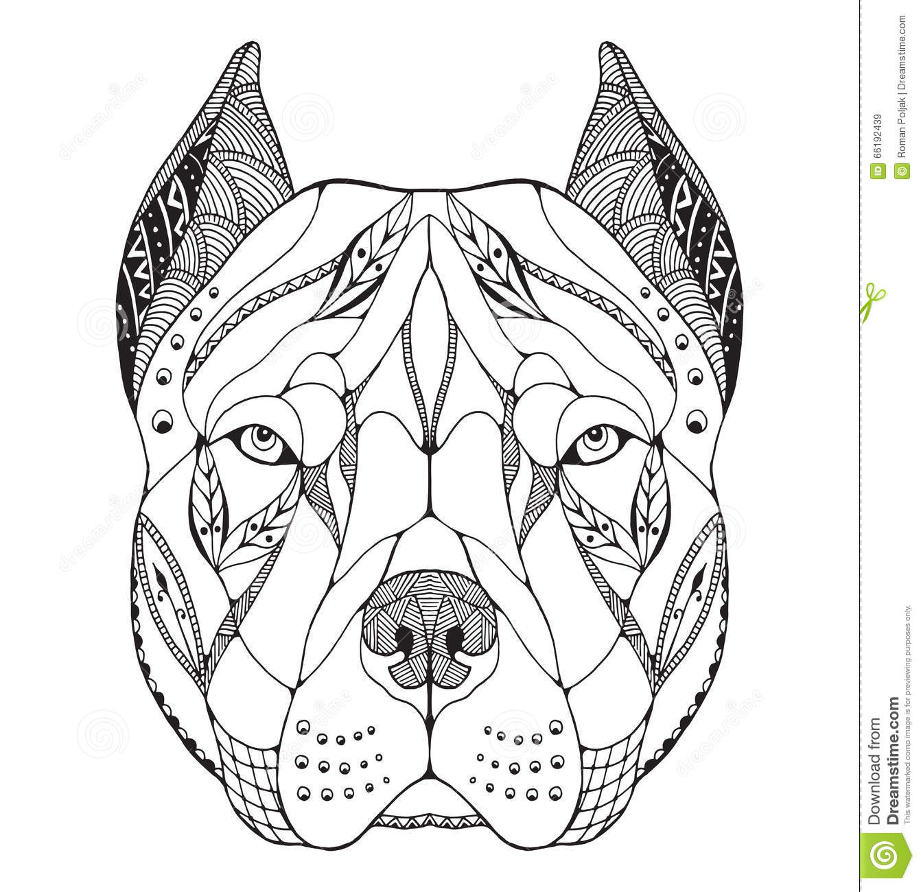 Adult Coloring Page Pit Bull In Clothes Cow Sugar Skull Pitbull
