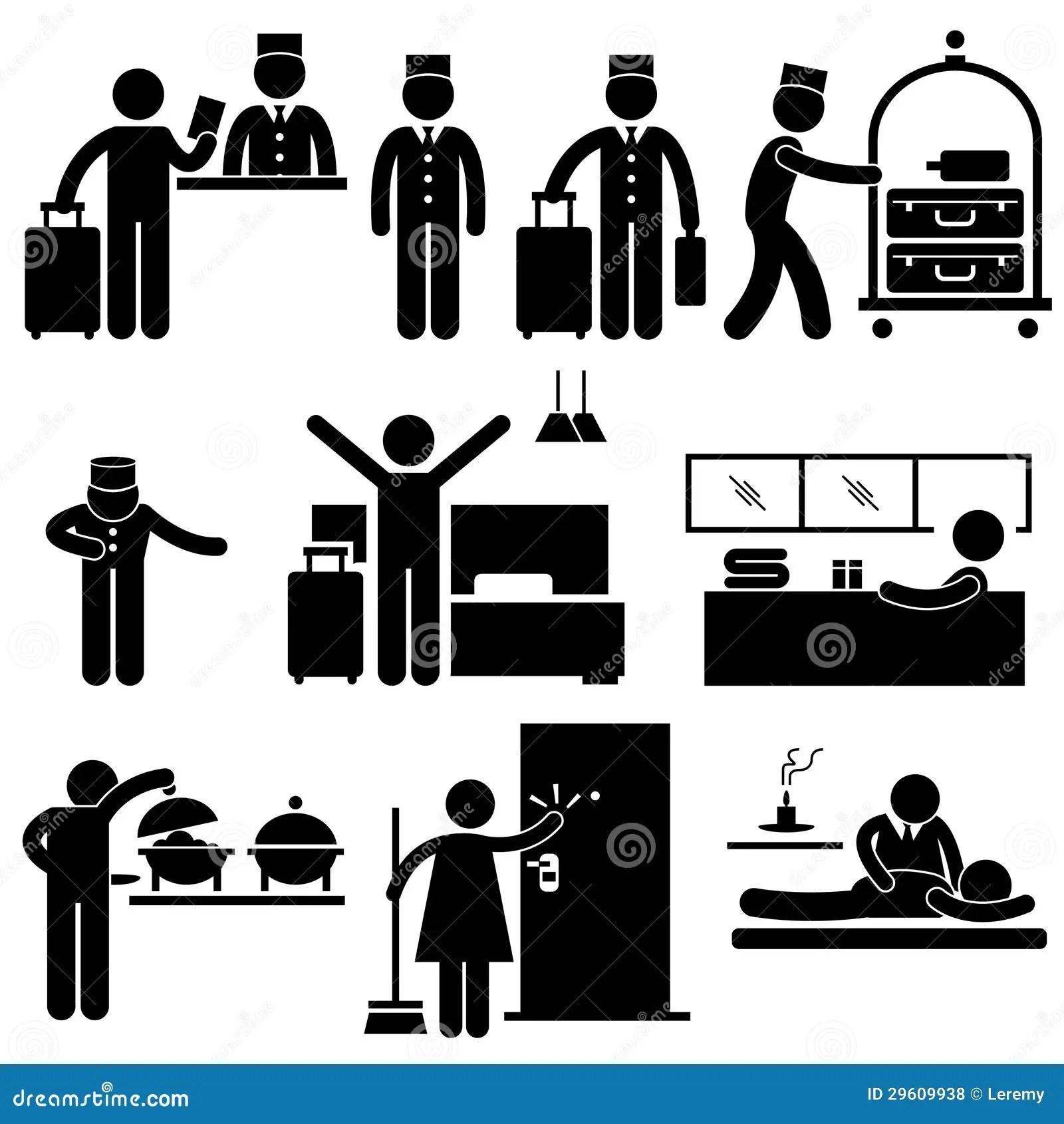 Pittogramma Dei Lavoratori E Di Servizi Dell'hotel