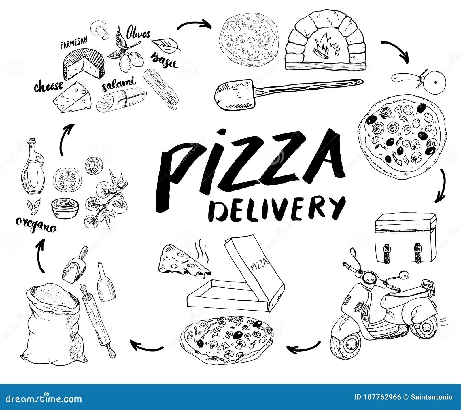 Pizza Hand Drawn Stock Illustrations 4 638 Pizza Hand