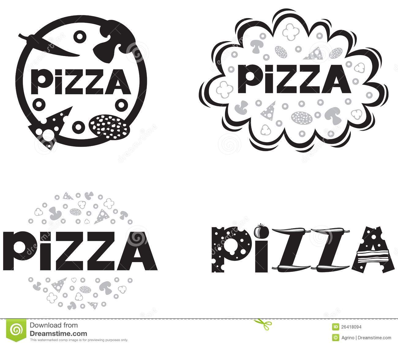 Pizza Logo Stock Images