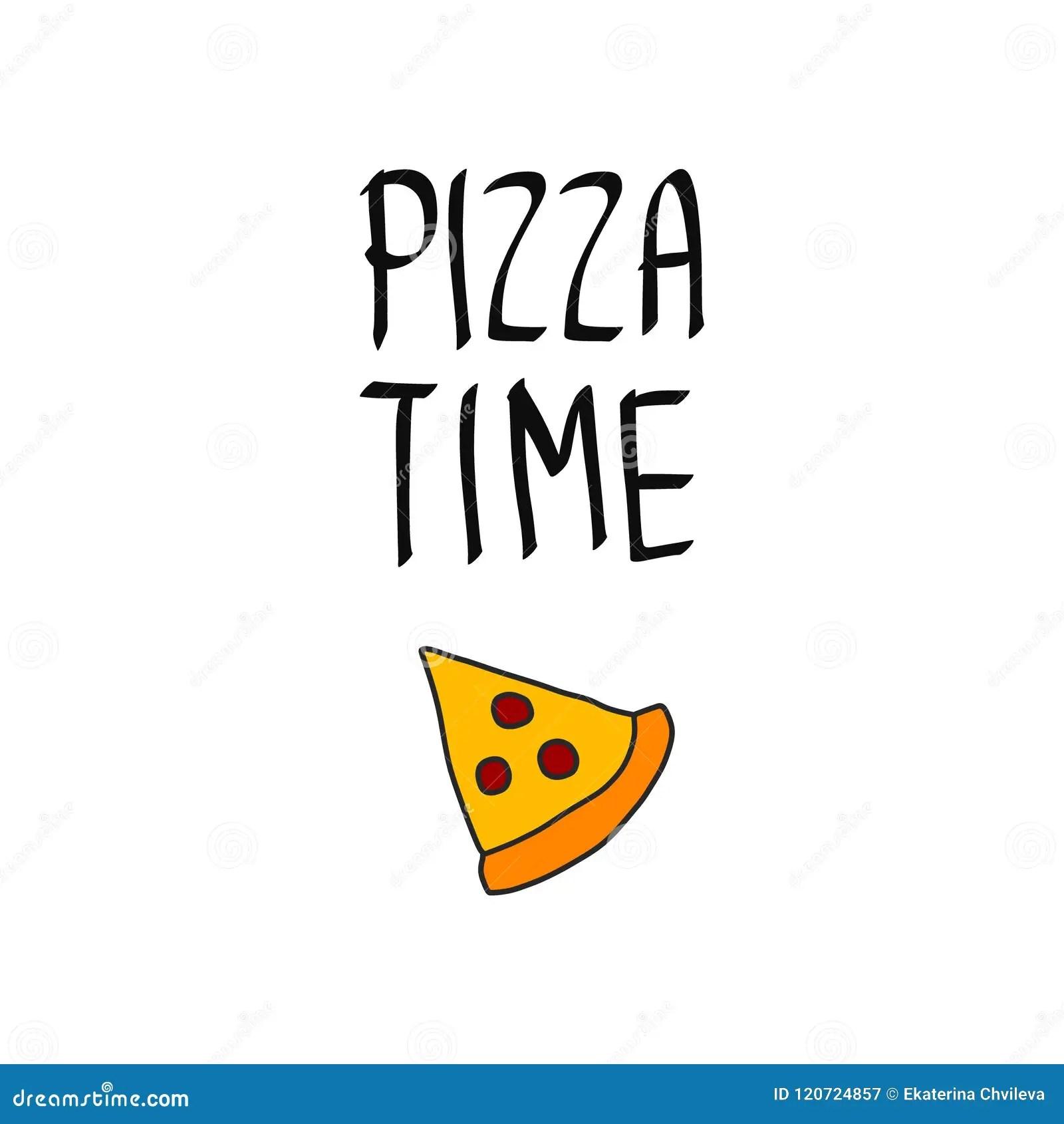 Pizza Cartoon Style Menu Template Cartoon Vector
