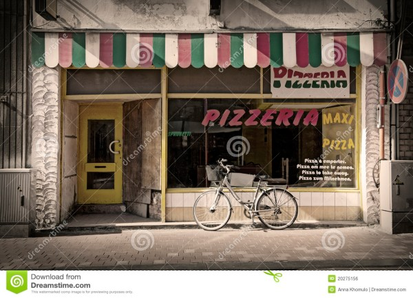 Pizzeria Stock Of Door Cafe Italian Town - 20275156