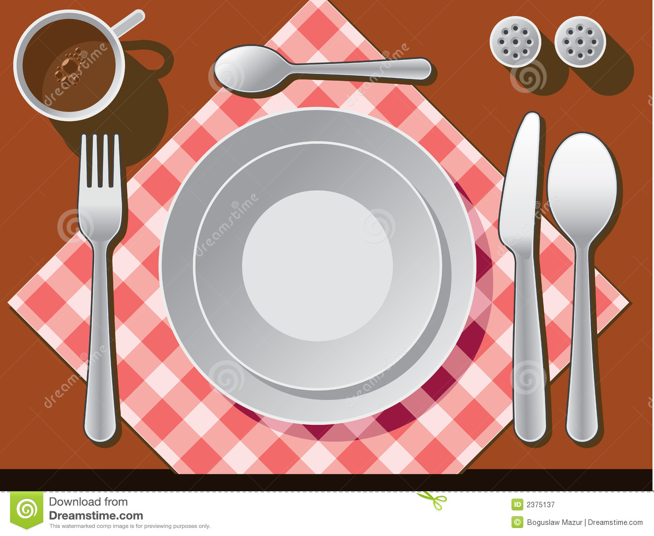 Place Setting Stock Vector Illustration Of Coffee