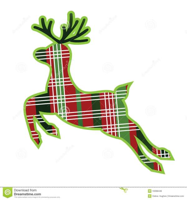 Plaid Fabric Reindeer Royalty Free Stock - 16398446