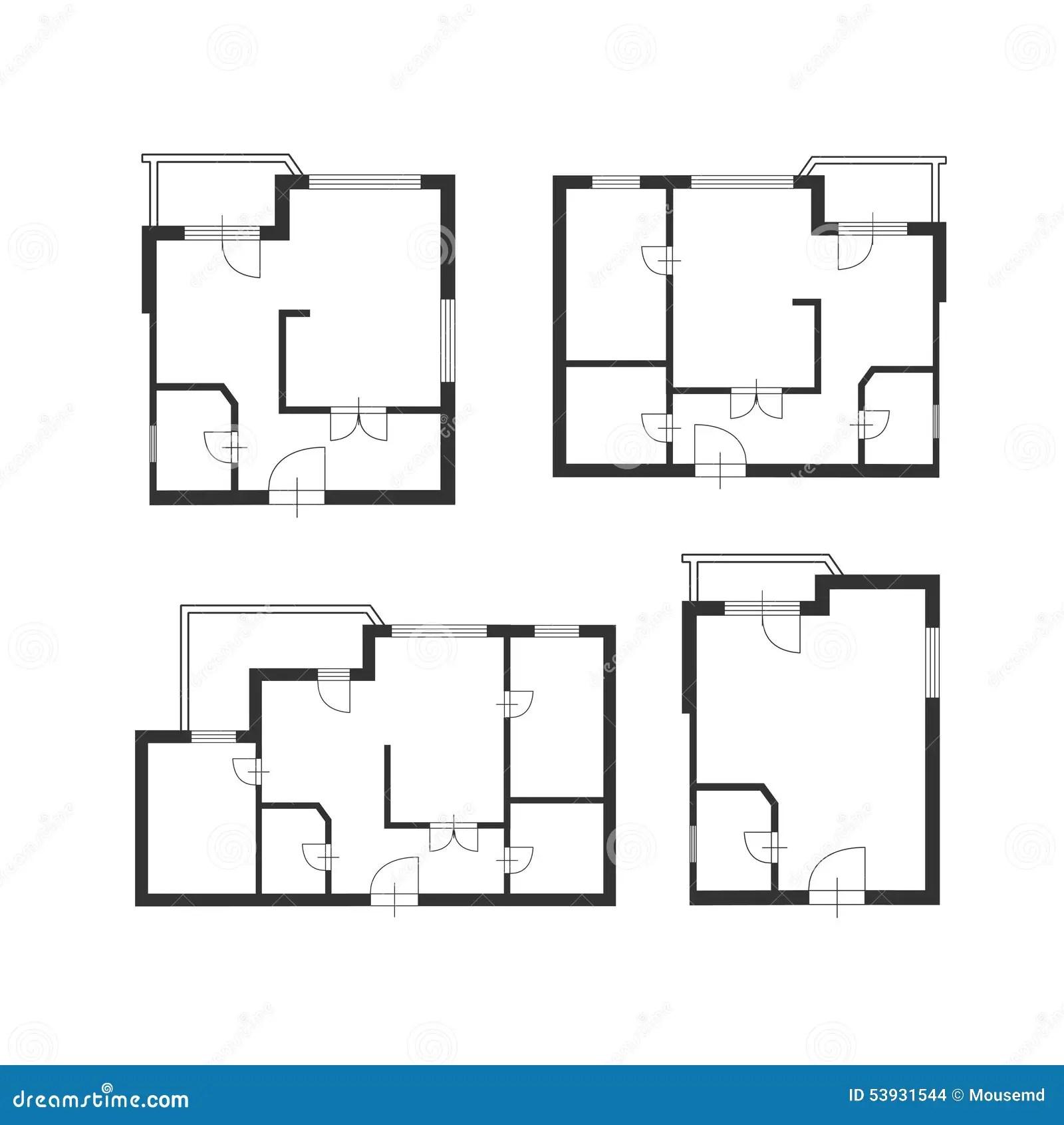 Plan D Architecte De Meubles De Vecteur D Ensemble De