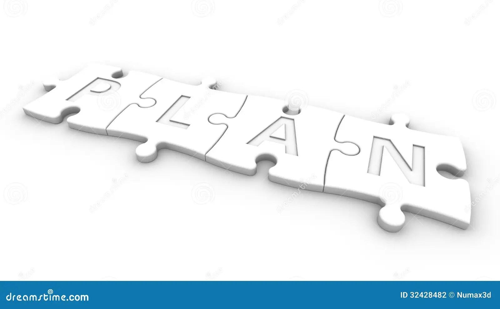 Plan stock illustration. Illustration of crossword