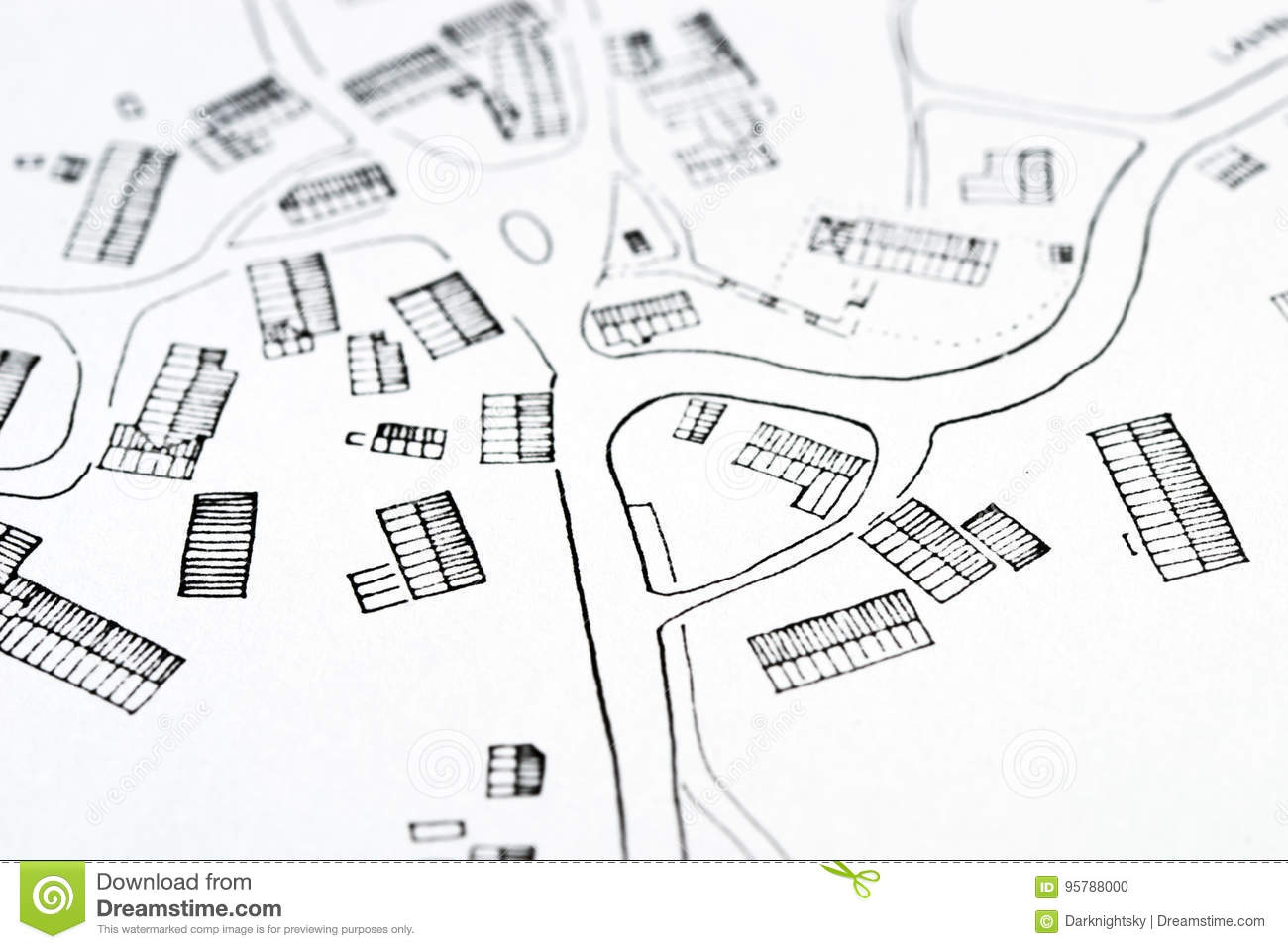 Plan Of A Traditional Village Stock Photo