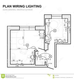 plan wiring lighting electrical schematic interior  [ 1300 x 1390 Pixel ]