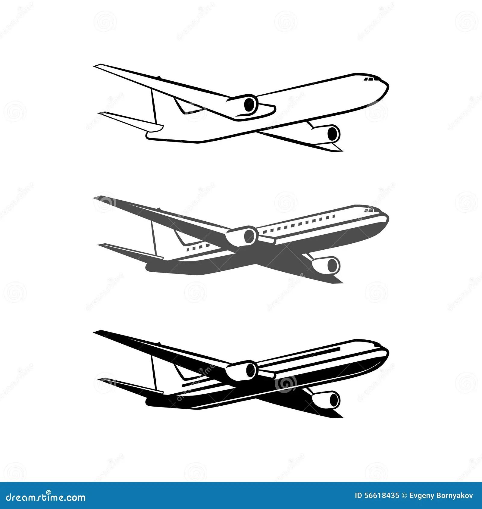 Plane Logo Stock Vector