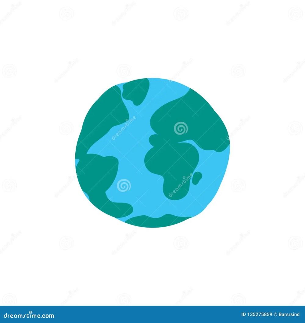 medium resolution of planet globe flat color illustration earth cartoon clipart world sphere hand drawn design element