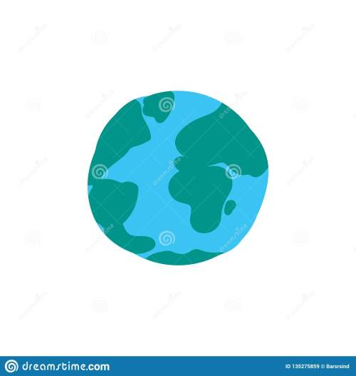small resolution of planet globe flat color illustration earth cartoon clipart world sphere hand drawn design element