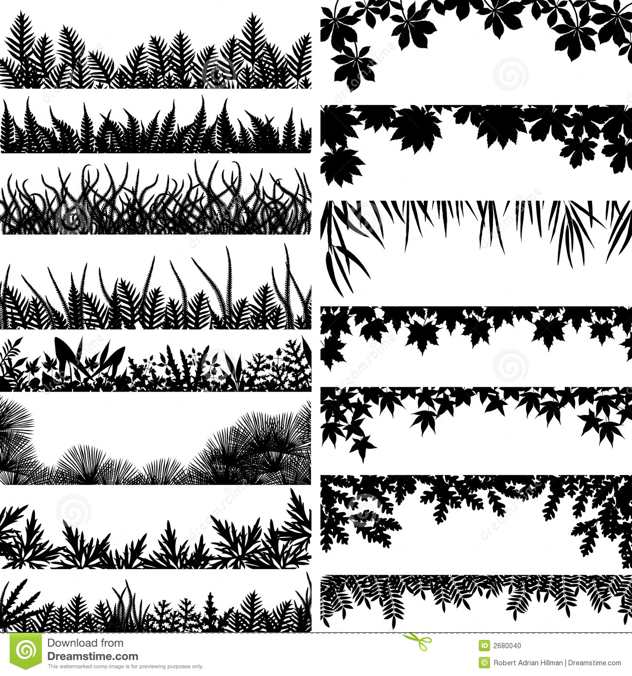 Plant Borders Stock Vector Illustration Of Background