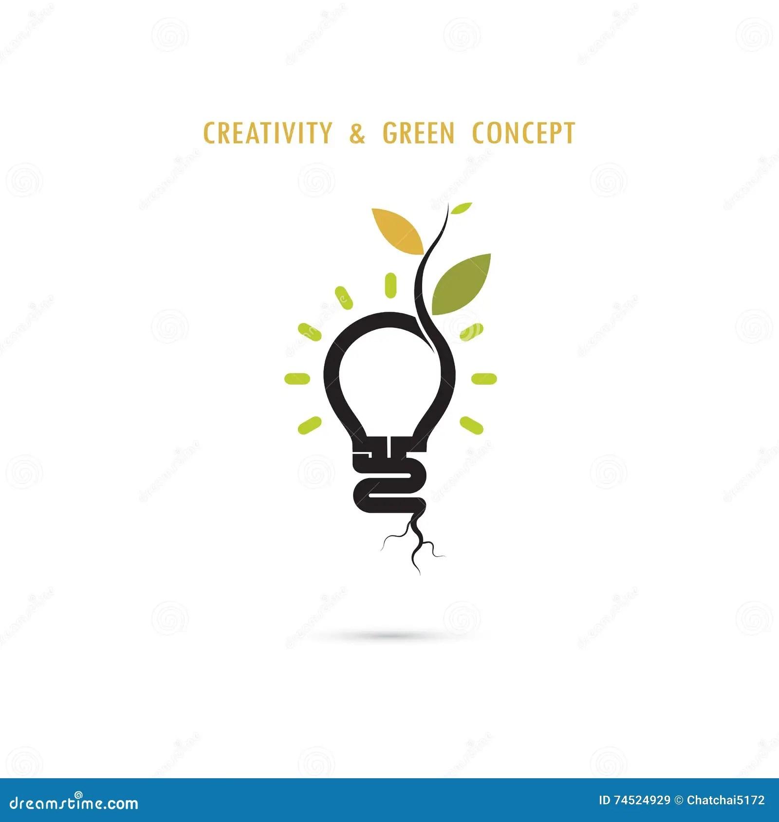 Plant Growing Inside The Light Bulb Logo Stock Vector