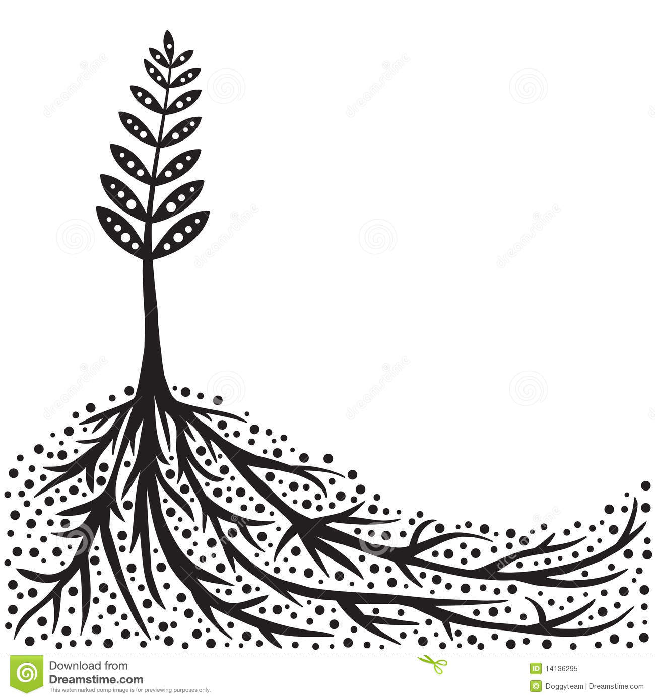 Plant And Roots Background Royalty Free Stock Photo