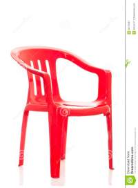 Red Plastic Chair On White Background Royalty-Free Stock ...