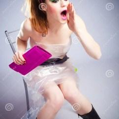 Pink Vanity Chair Bean Bag Baby Recall Plastic Girl Royalty Free Stock Photos - Image: 17699418