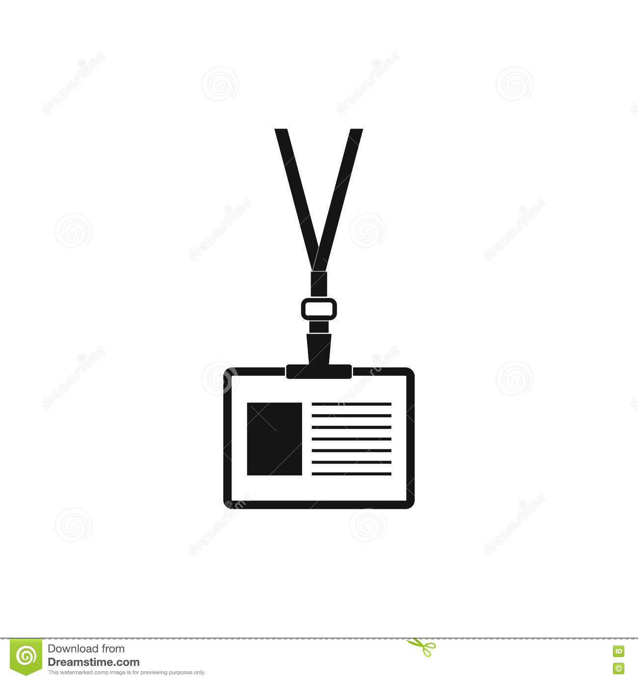 Plastic Id Card Icon Simple Style Stock Vector