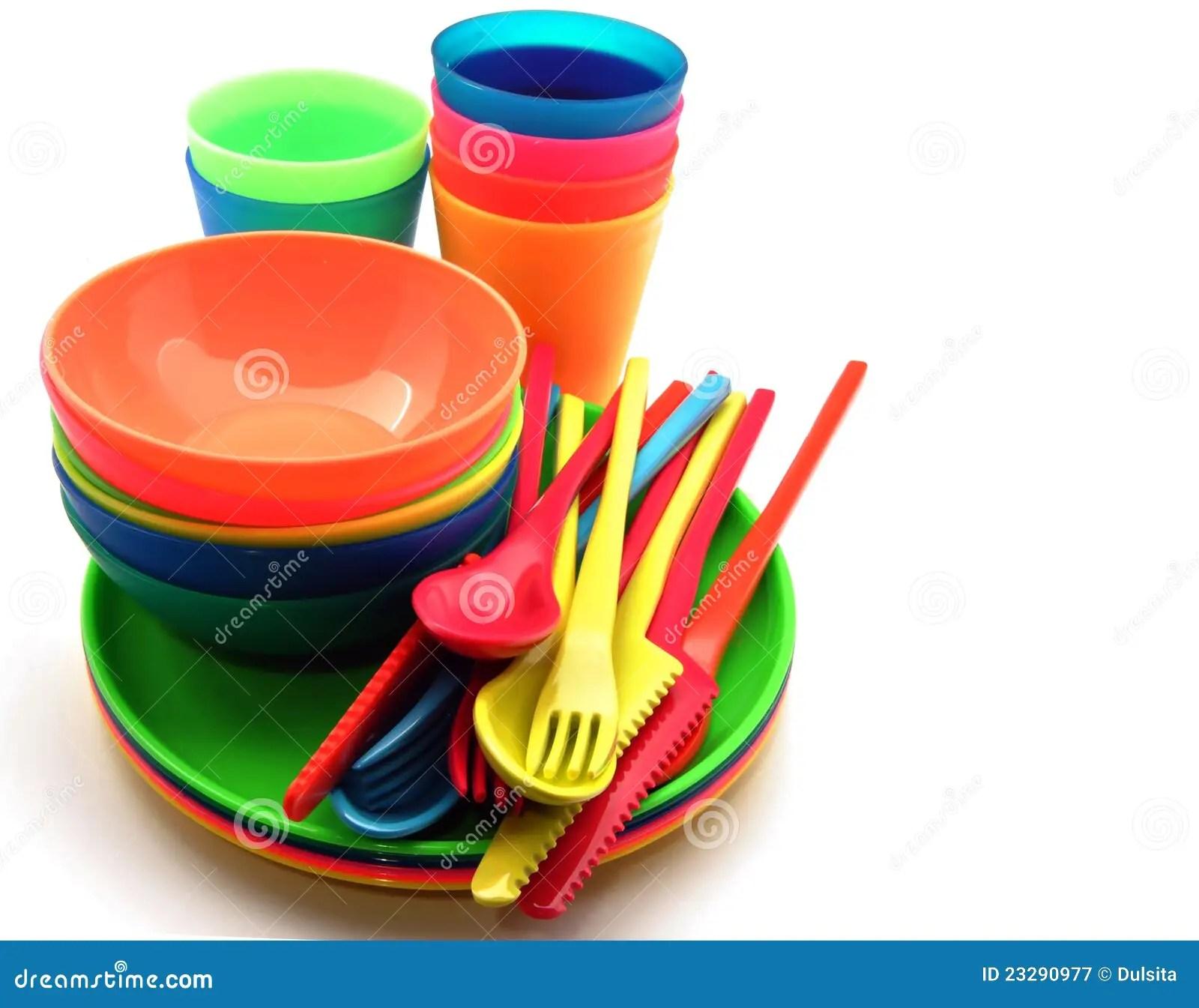 kitchen fork stick on tile backsplash plastic utensils stock image. image of collection, service ...