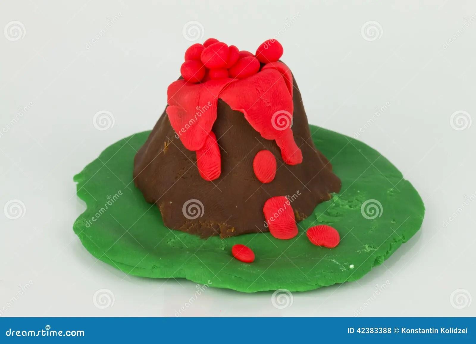 Plasticine Volcano Stock Photo Image Of Dough Molten
