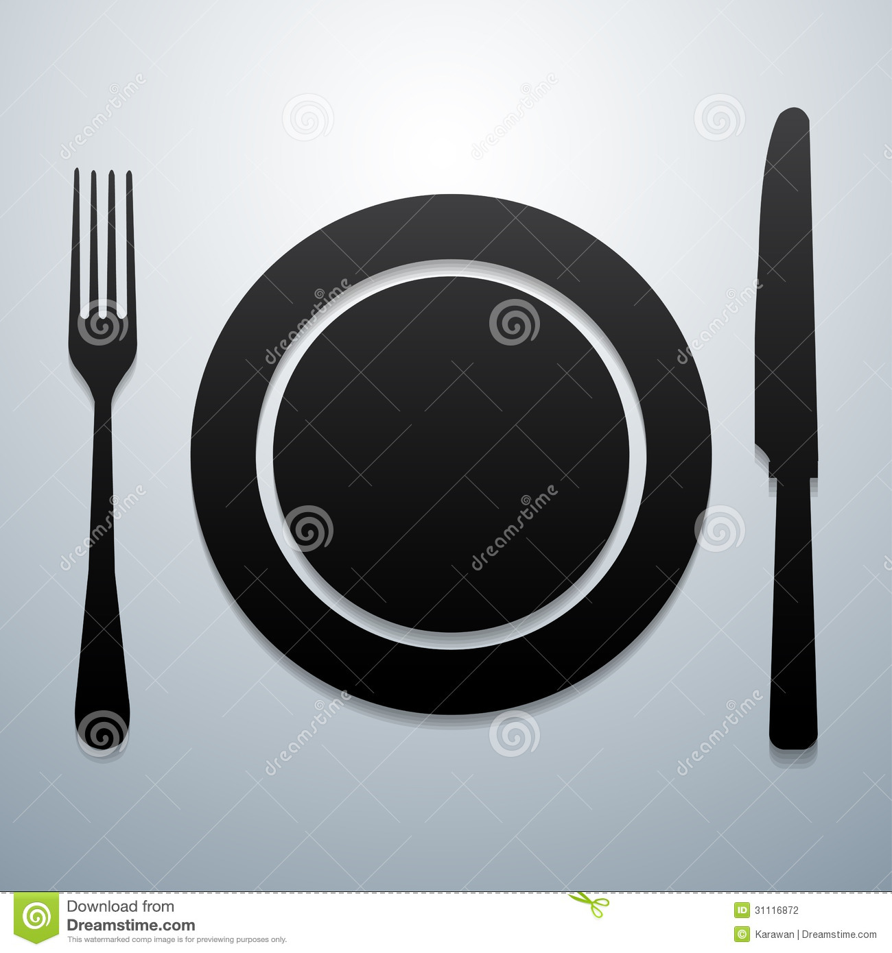 Plate Knife And Fork Stock Photography  Image 31116872
