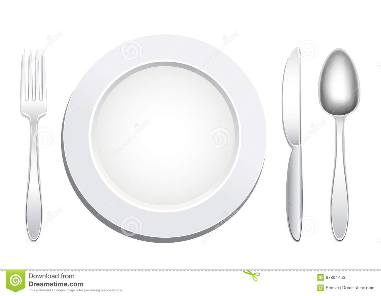 Plate Spoon Fork Knife Stock Vector Image Of Knife Dinner