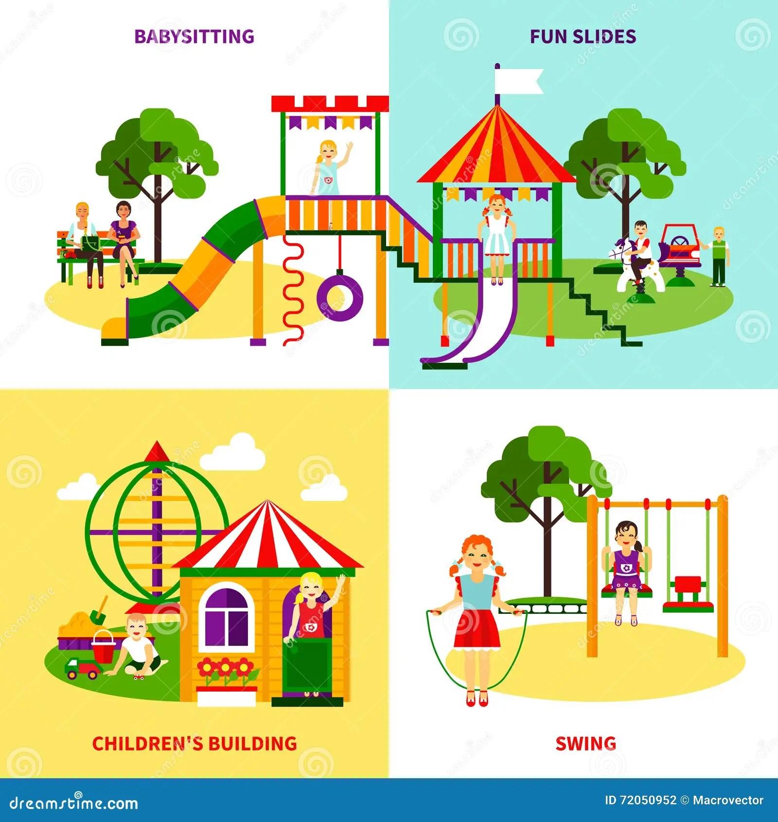 Playground Design Concept Stock Vector Illustration Of