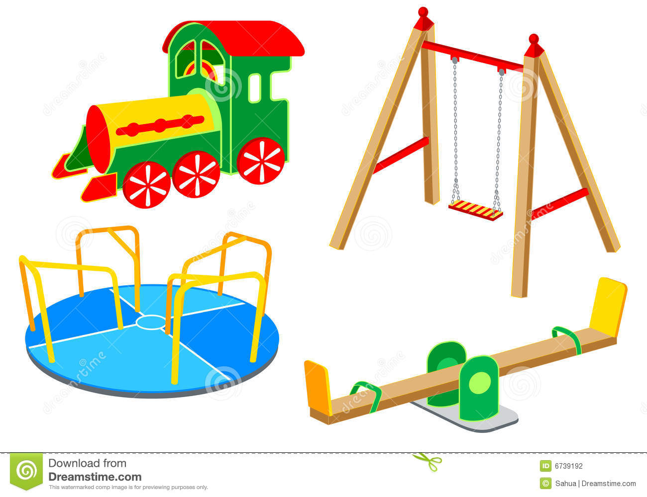 Playground Equipment Set 1 Stock Photography