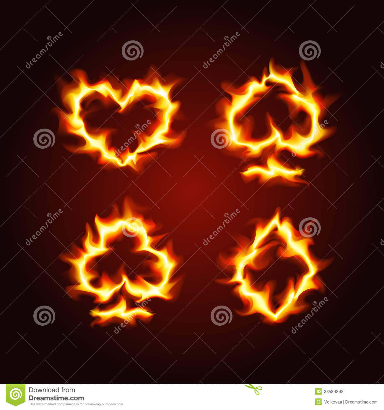 Laptop Quote Wallpaper Playing Card Suits On Fire Royalty Free Stock Photos
