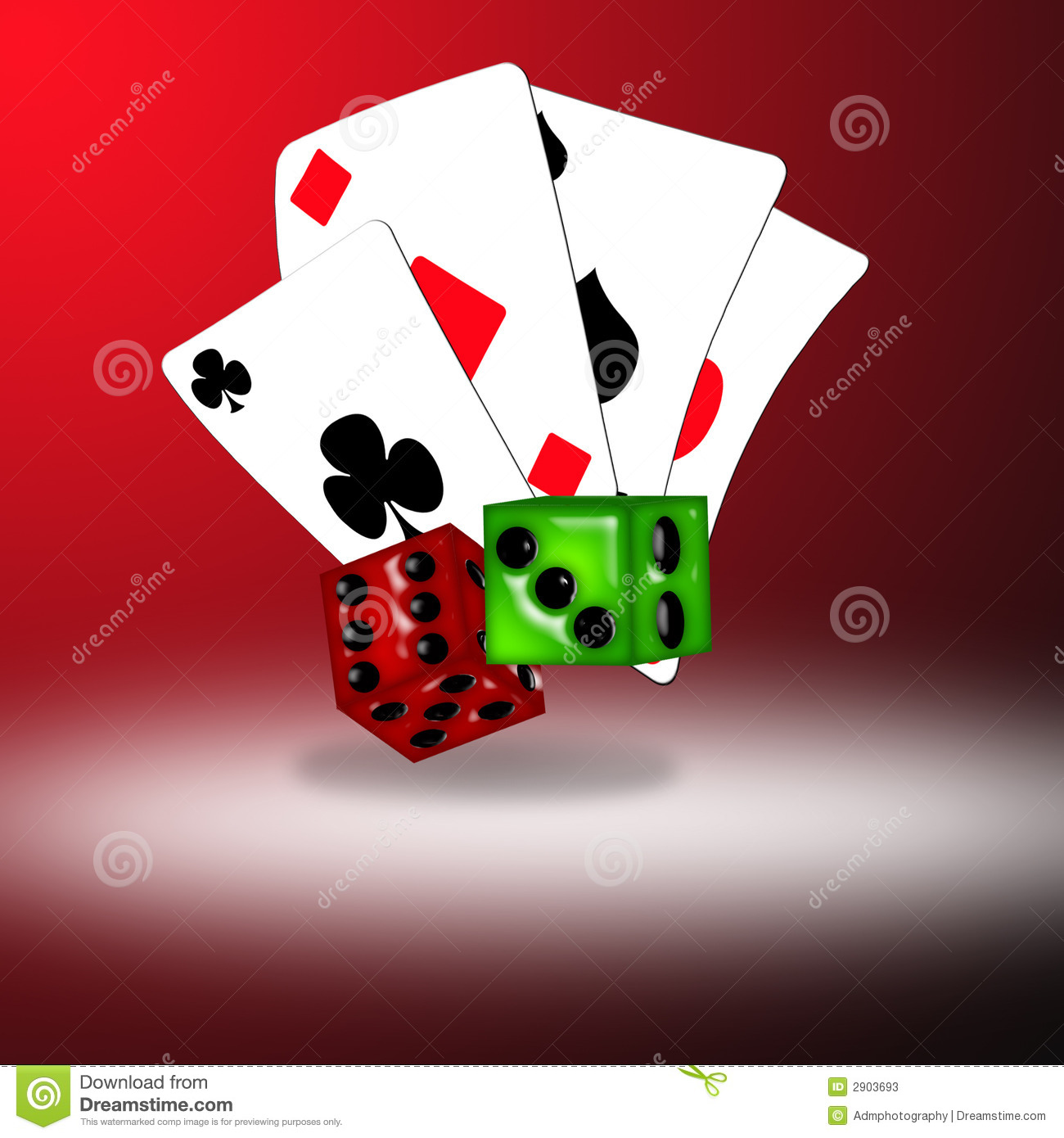 Playing Cards And Dice Stock Illustration Image Of Risk
