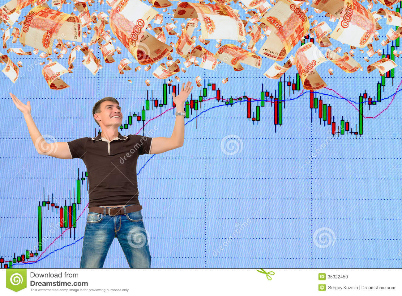 Playing On The Rise In The Stock Market Stock Photo  Image 35322450