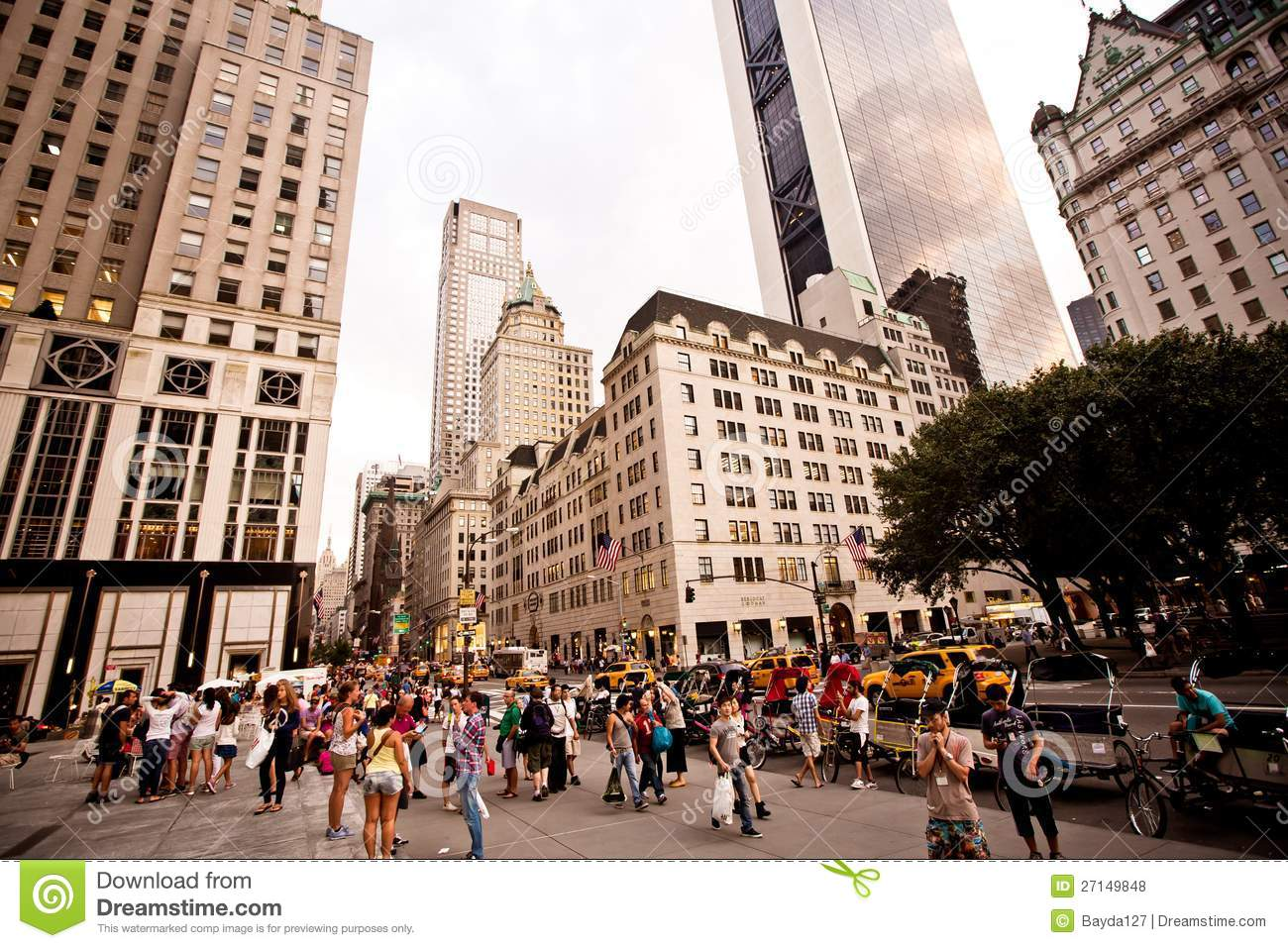 Plaza Hotel On 5th Avenue In New York Editorial Stock
