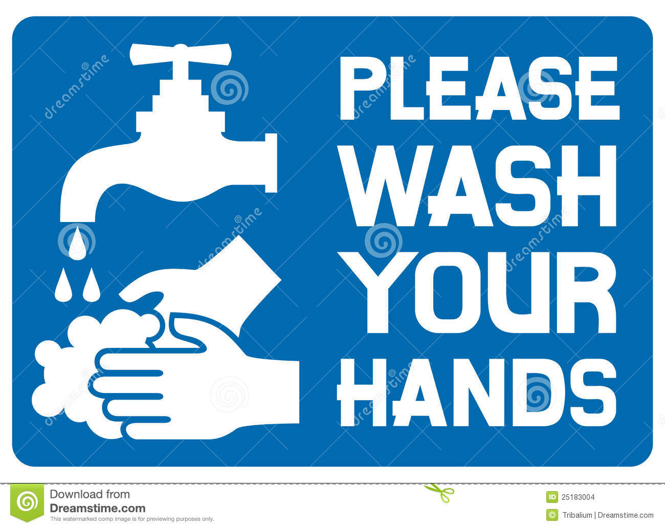 Please Wash Your Hands Sign Stock Photo  Image Of