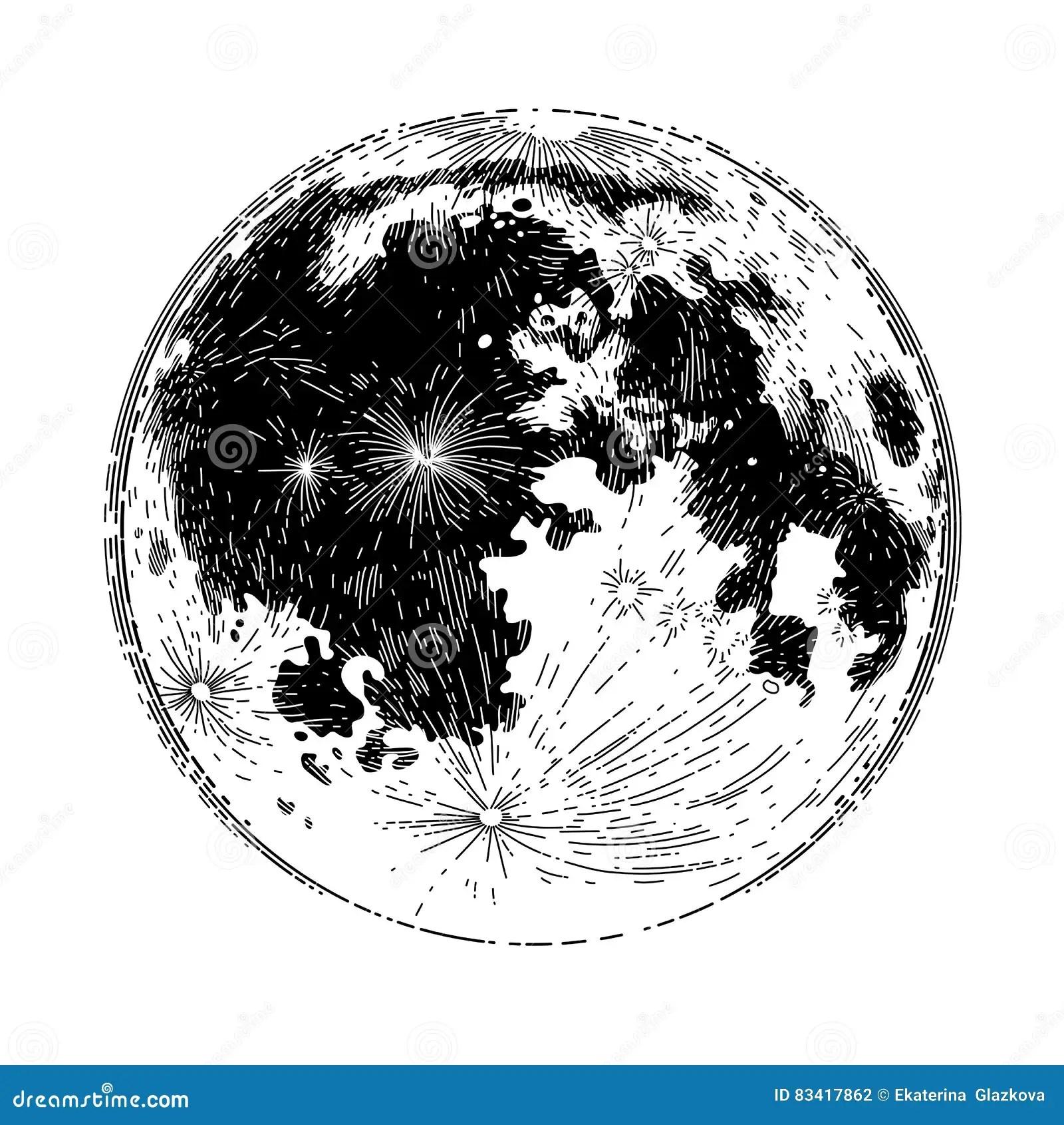 Pleine Lune Graphique Illustration De Vecteur