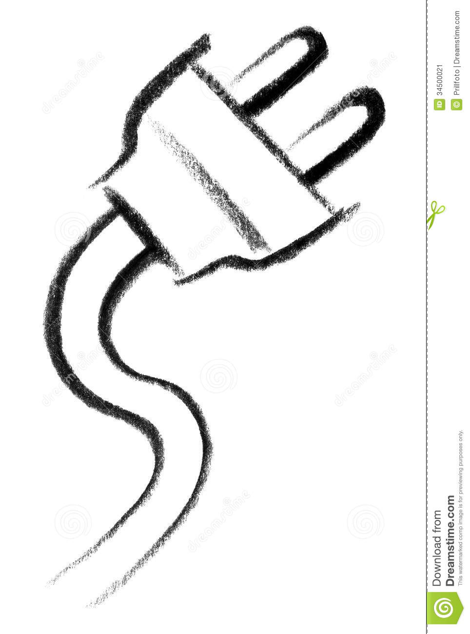 Plug icon stock illustration. Illustration of cord