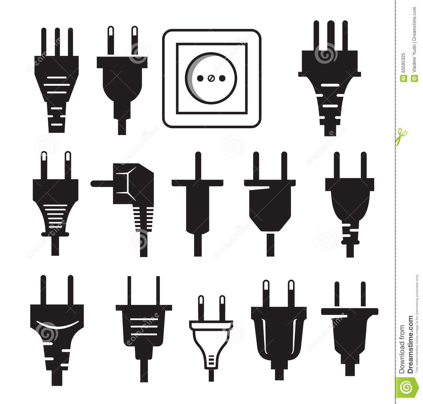 Plug Icon Stock Vector Illustration Of Cable Switch