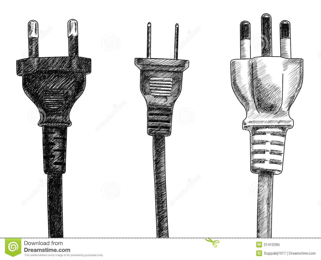 Plugs stock illustration. Illustration of object