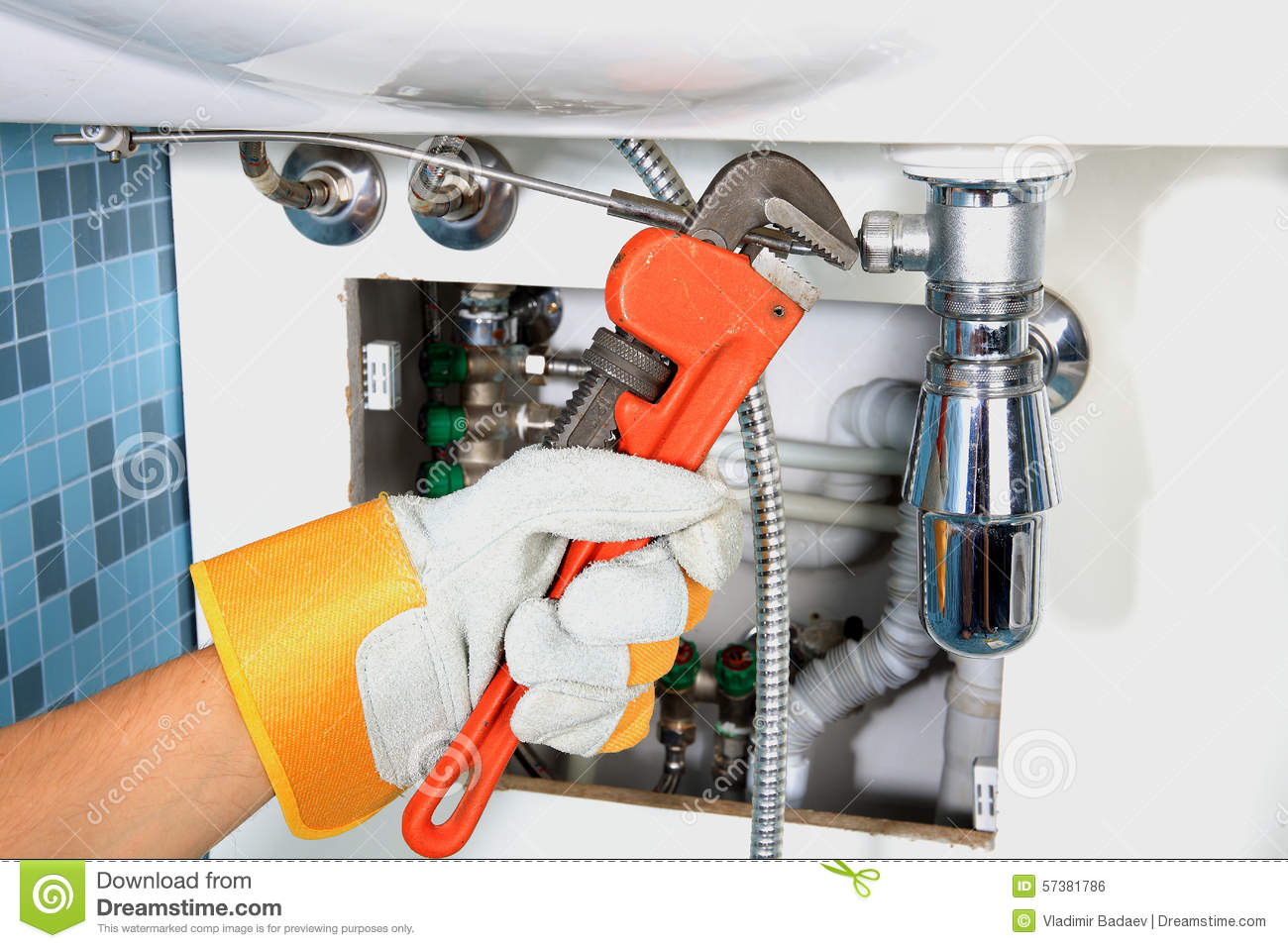 Plumbing Work And Sanitary Engineering Stock Photo  Image