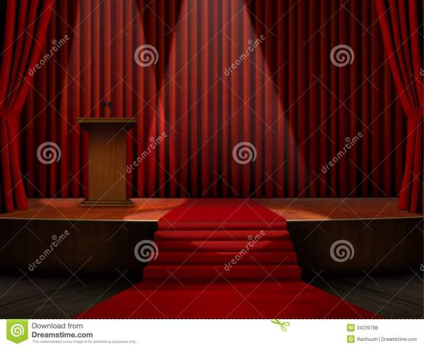 Podium And Red Carpet Stage Royalty Free Stock