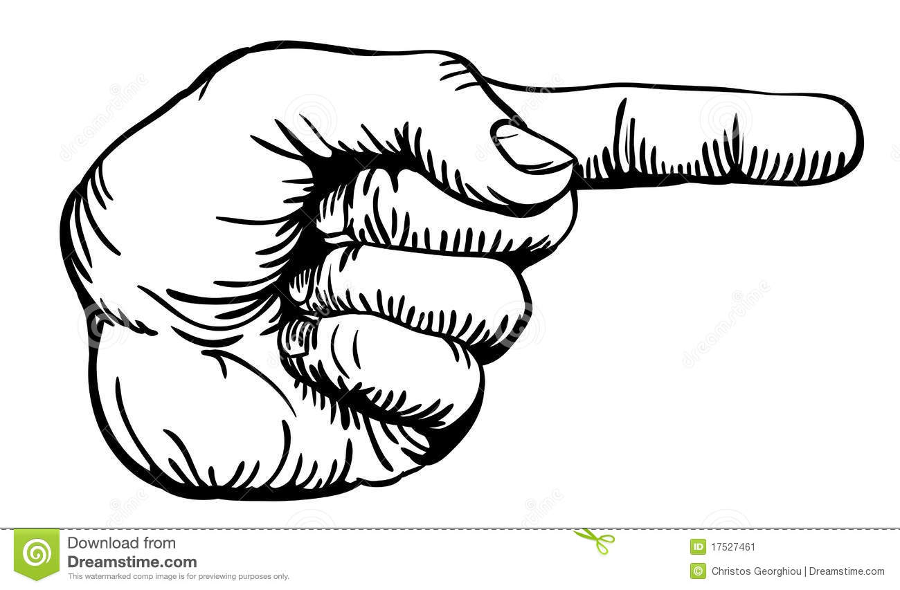 Pointing The Finger Stock Image
