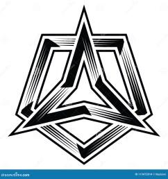 3points star three corner angle point triangle polygon trilogy trinity trefoil pentagon polygon 5points trio tri five flat logo icon badge banner sticker  [ 1300 x 1390 Pixel ]
