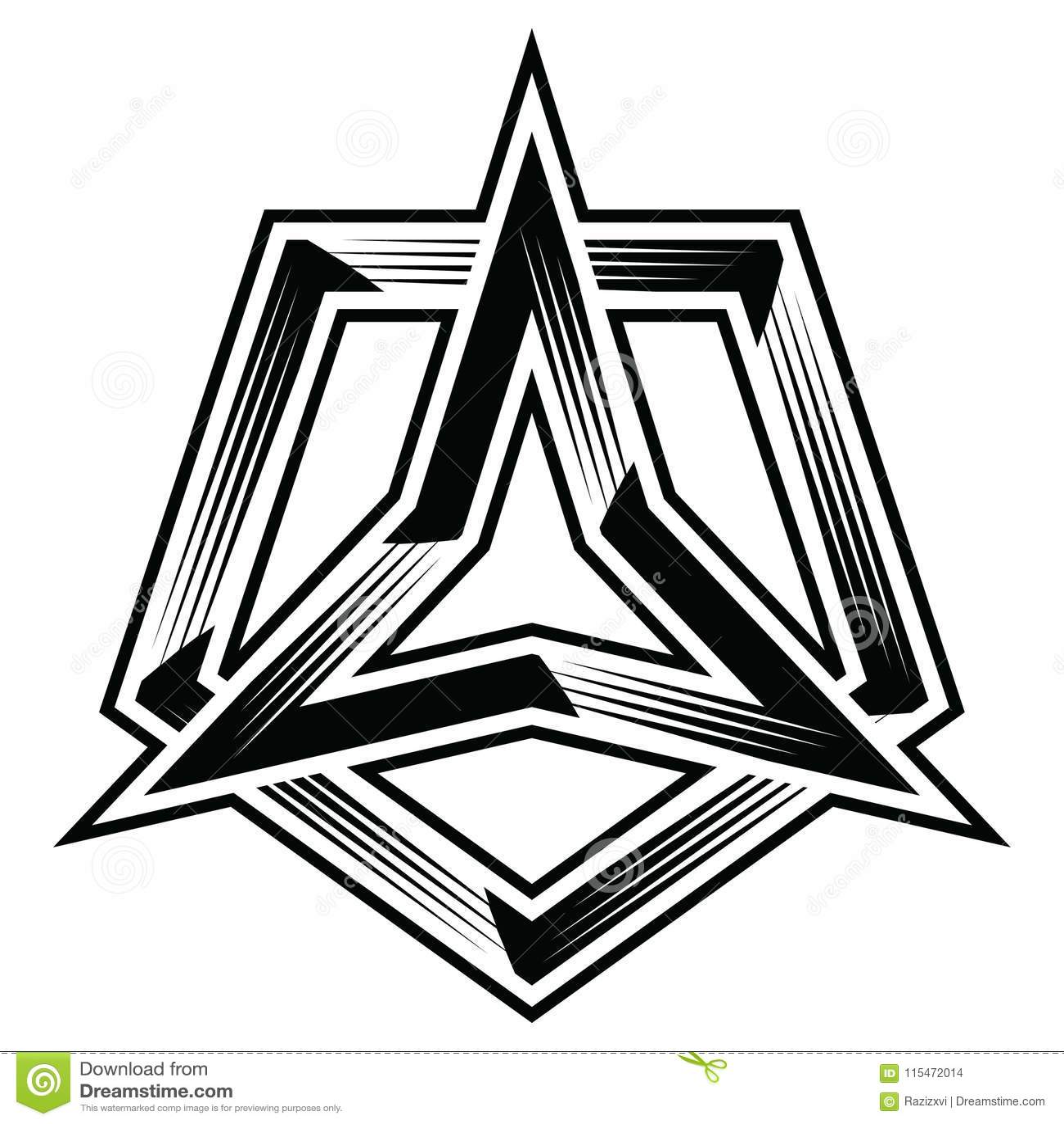 hight resolution of 3points star three corner angle point triangle polygon trilogy trinity trefoil pentagon polygon 5points trio tri five flat logo icon badge banner sticker