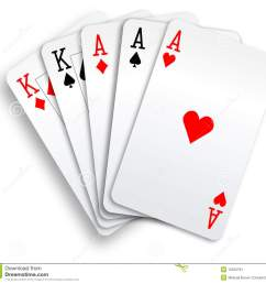 a poker hand full house three aces and pair of kings playing cards  [ 1300 x 1224 Pixel ]
