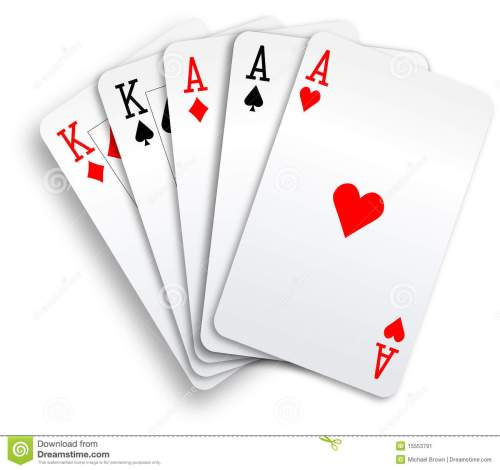 small resolution of a poker hand full house three aces and pair of kings playing cards