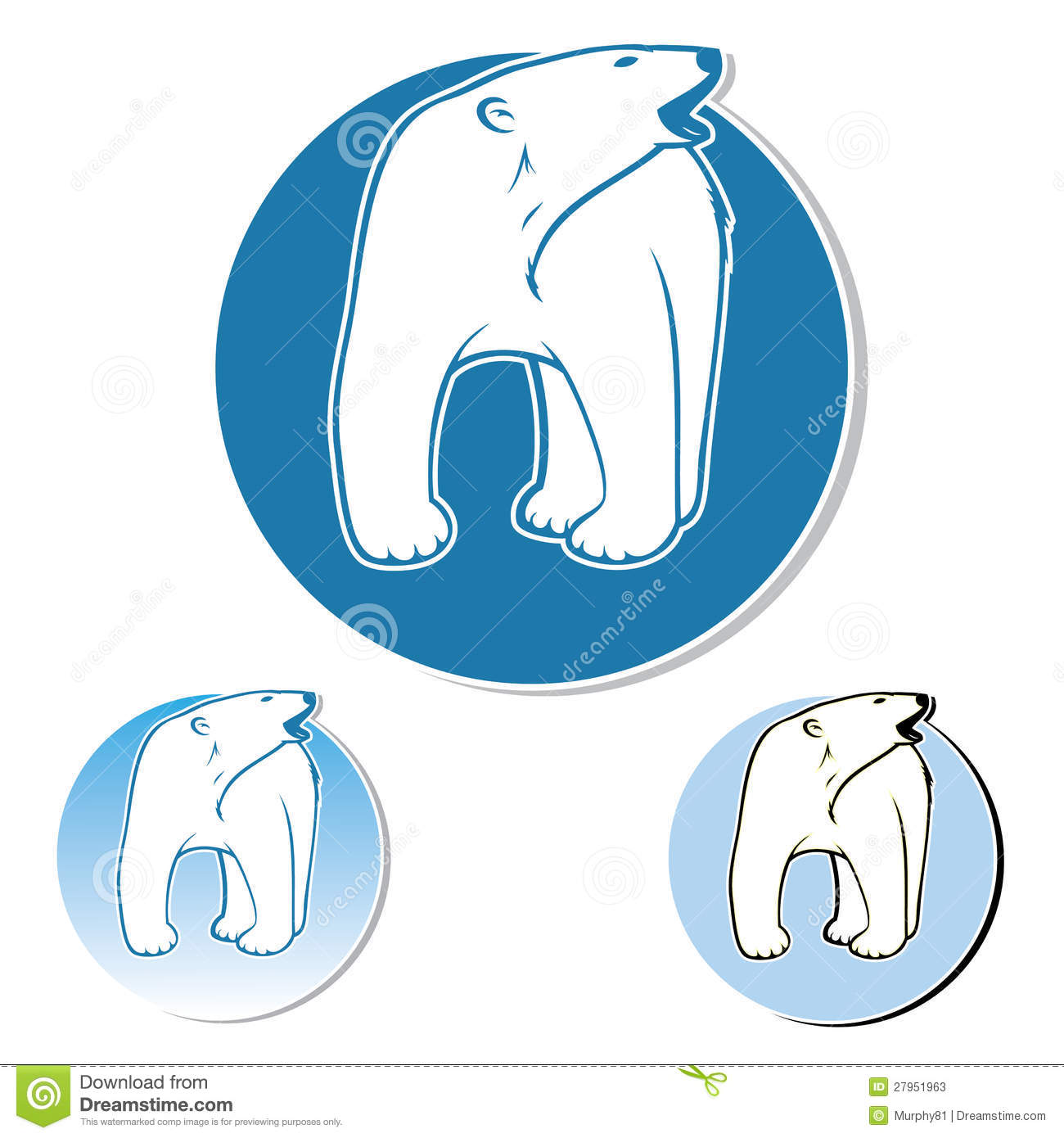 Polar Bear Label Stock Vector Illustration Of Animal