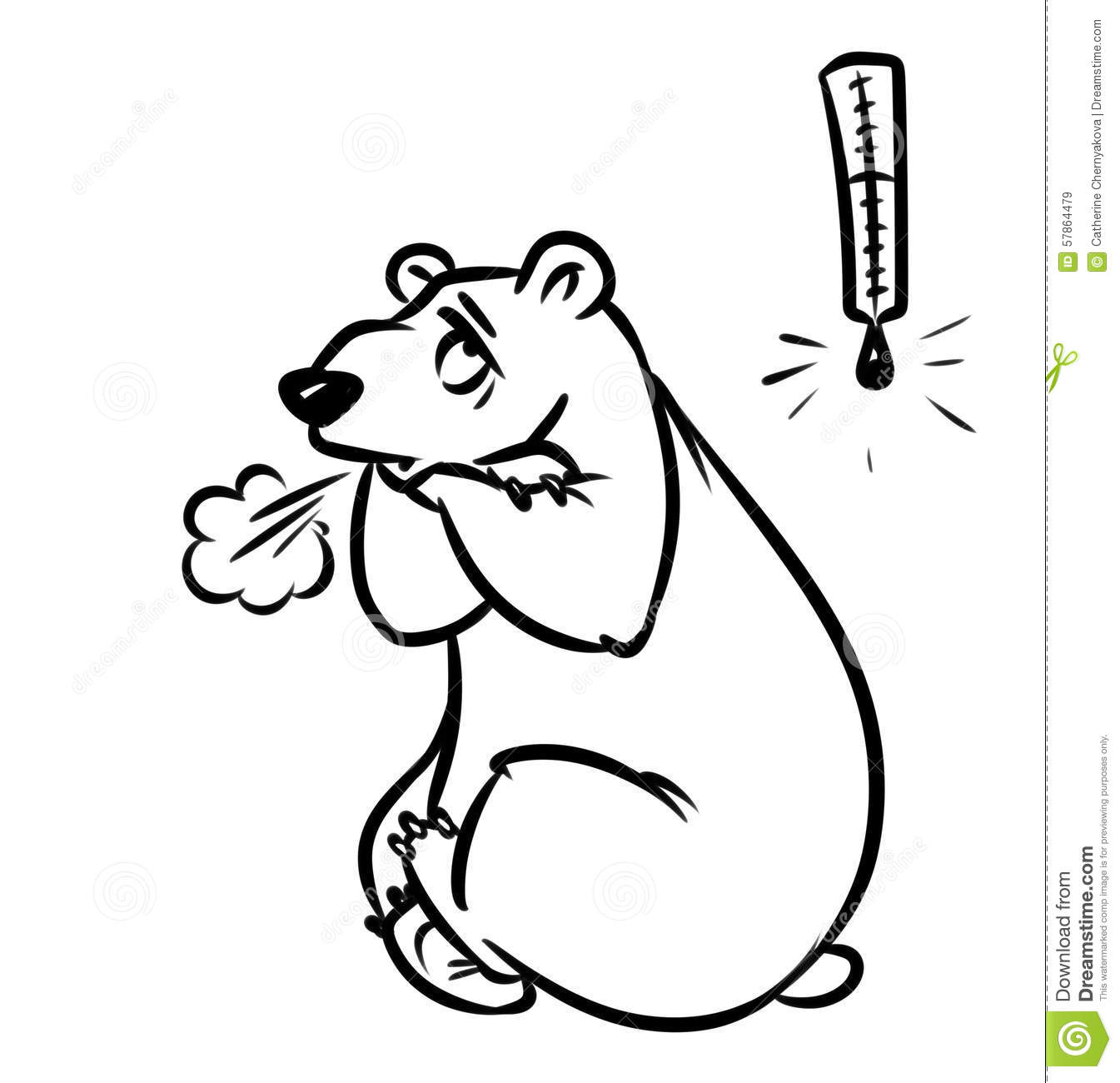 Polar Bear Metaphor Very Cold Stock Illustration