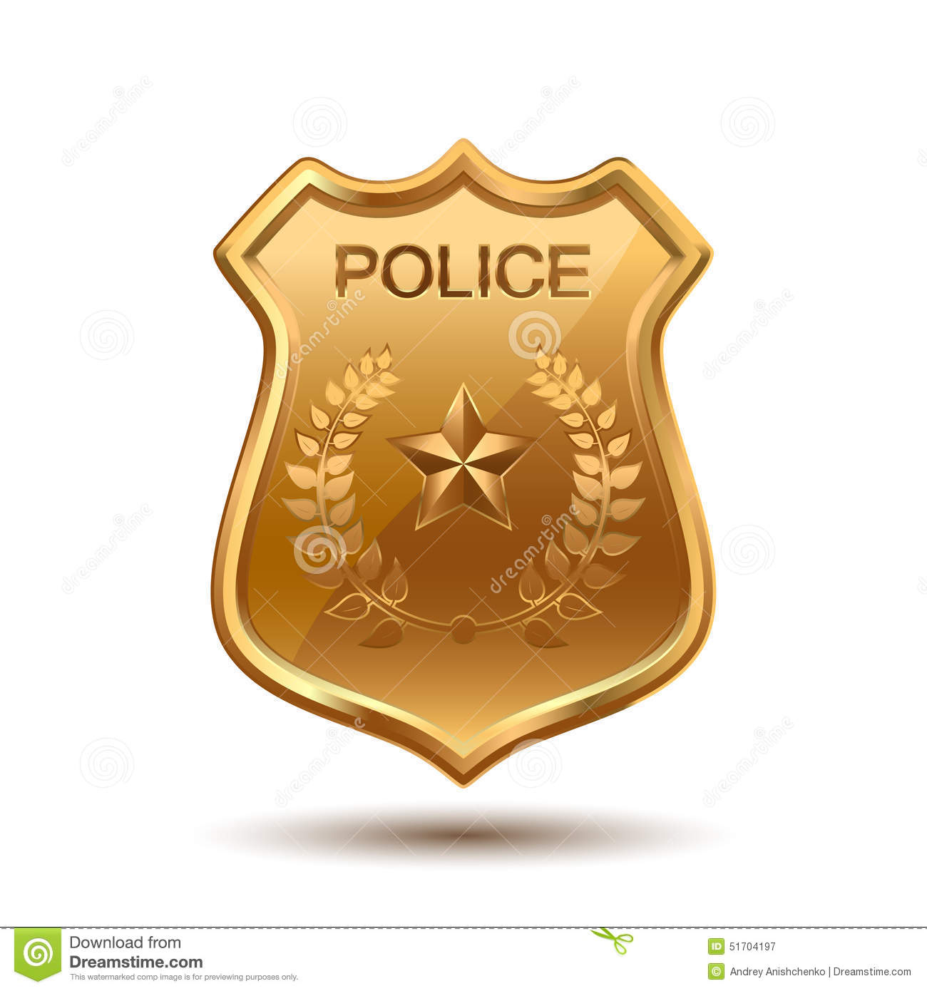 Police Badge Stock Vector Illustration Of Government
