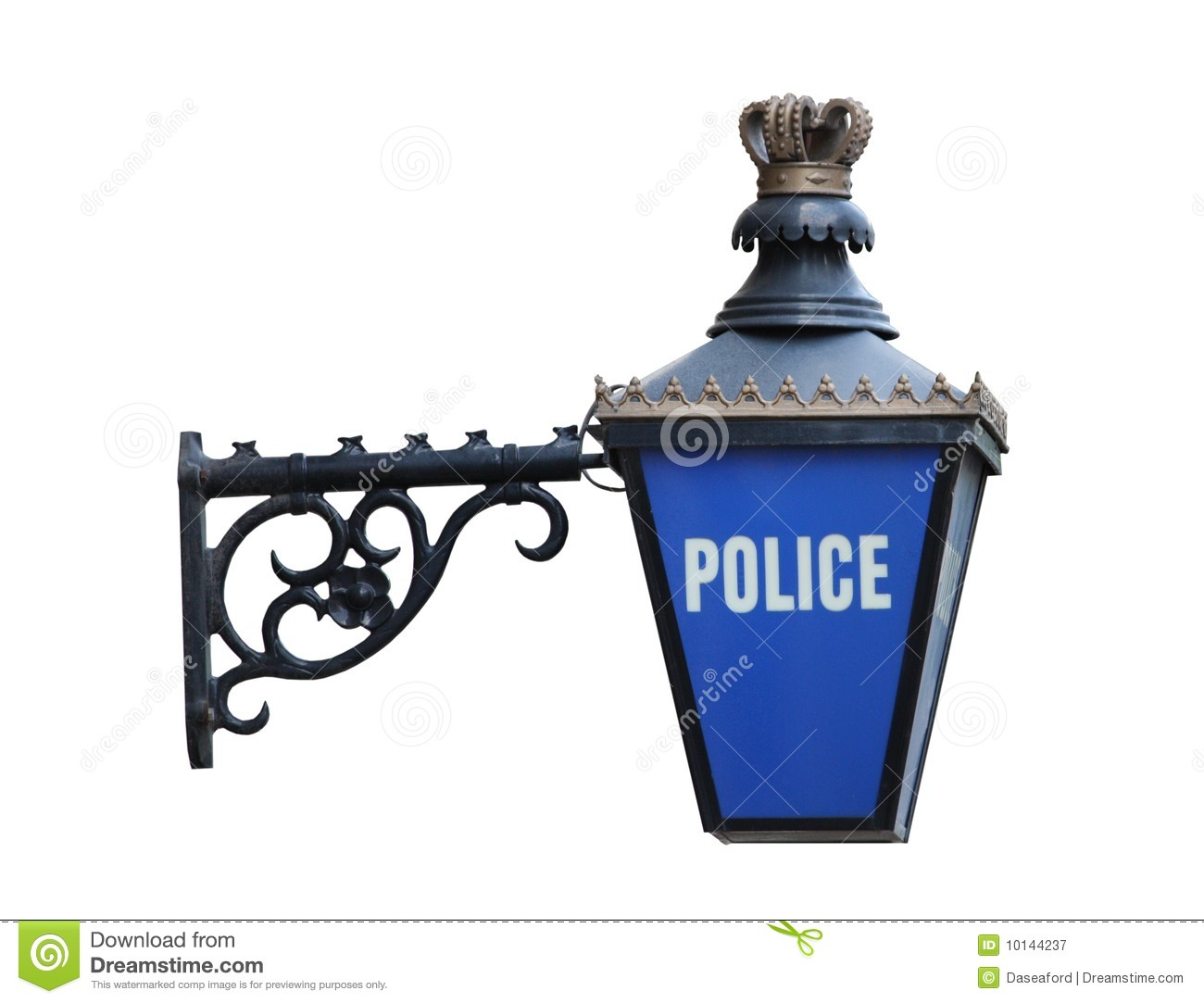 Police Sign Stock Image Image Of Notice Blue Constable