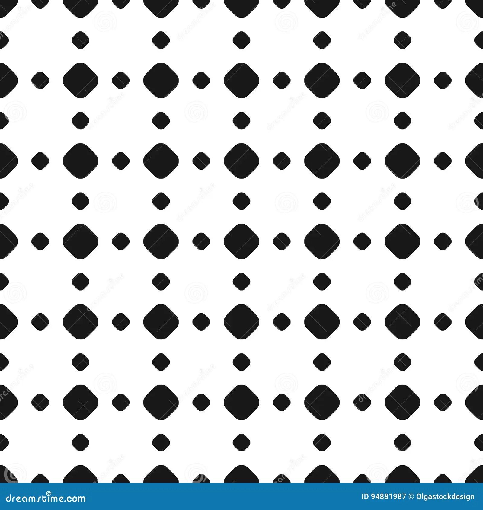 Polka Dot Seamless Pattern Vector Black Amp White Subtle