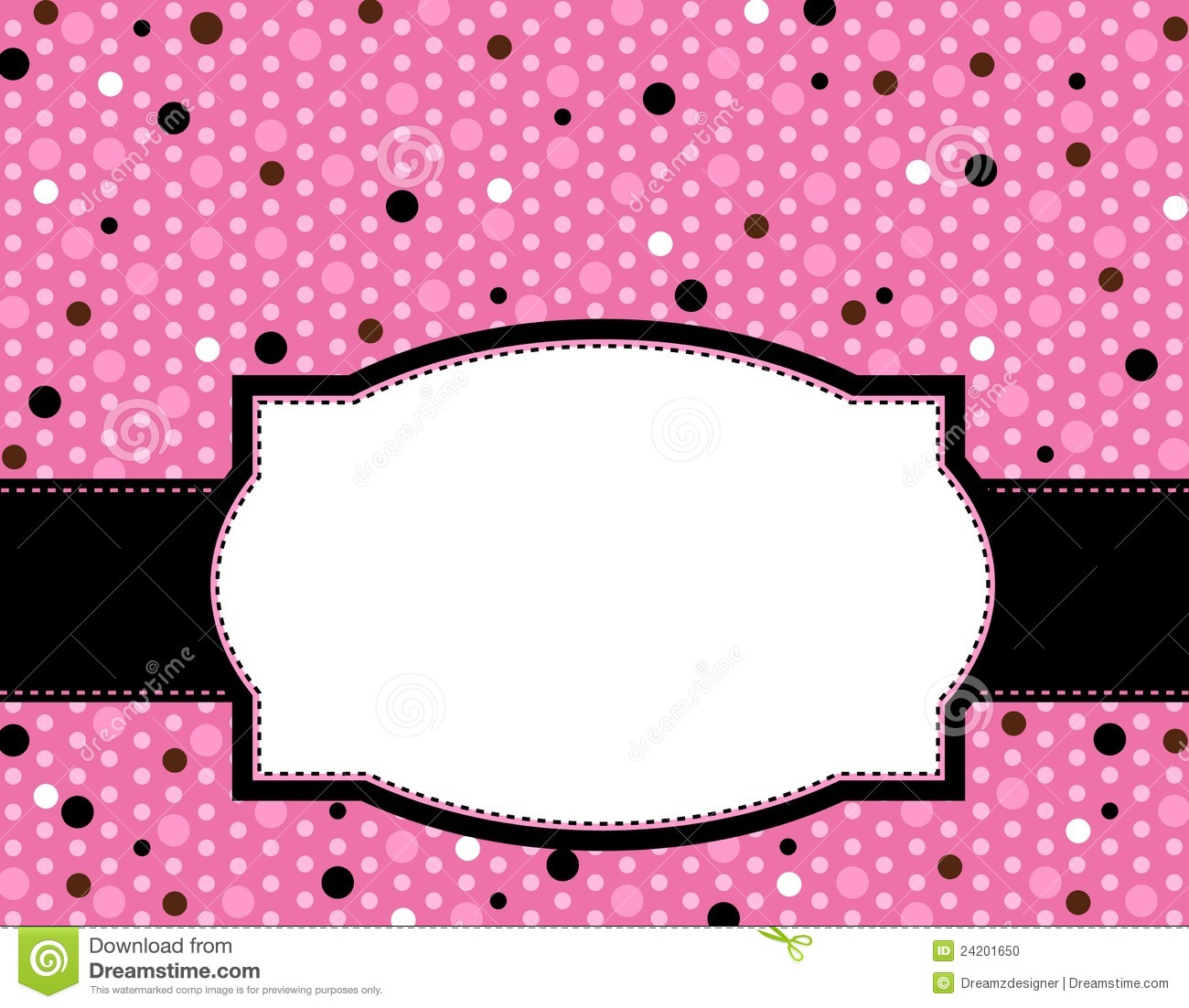 Cute Doodle Wallpaper Hd Polka Frame Background Stock Photo Image 24201650