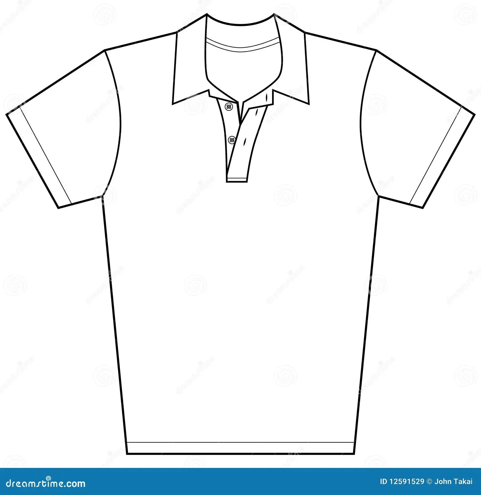 Polo Shirt Stock Vector Illustration Of Short Outline